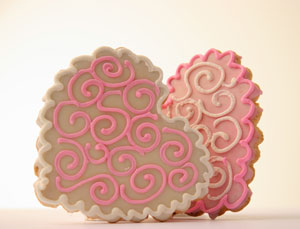 Hearts Hand Decorated Gourmet Cookies