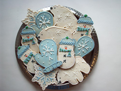Plate of Winter Decorated Cookies